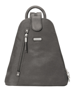 Black Backpack with wristlet