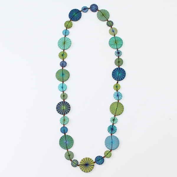 Seagreen Wood Mix Necklace