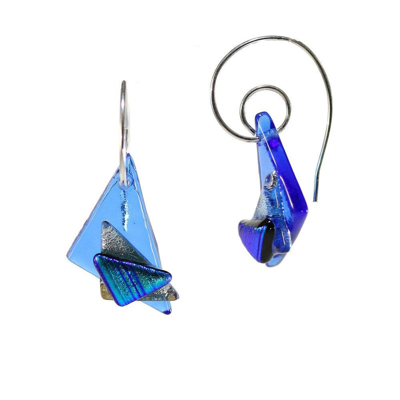 Blue Layered Earring