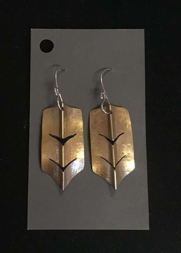 Brass Arrow Earring
