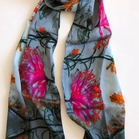 Honeysuckle Silk Scarf