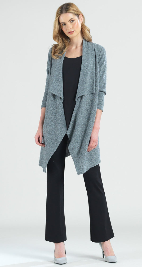 Grey Cozy Sweater Knit Cardigan