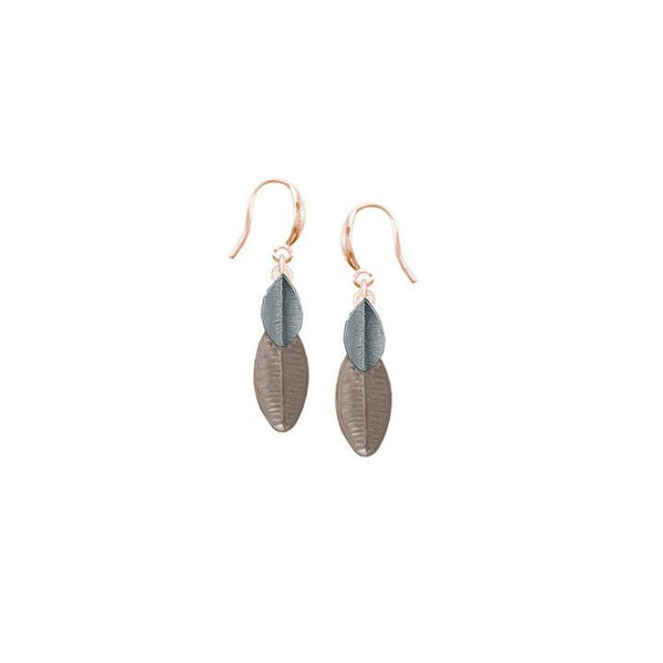 Taupe Leaf Earring