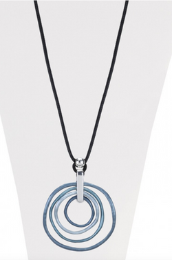 Blue Rings Long Necklace