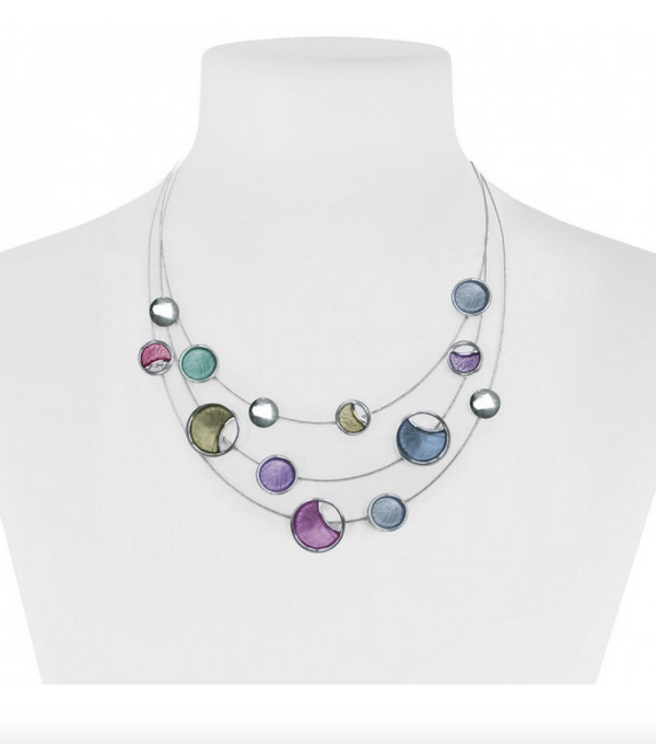 3 Layer Multi-Color Circles Necklace