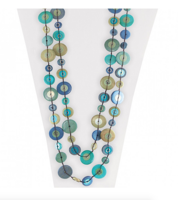 Large Blue & Green Necklace