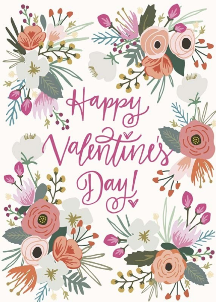 Valentines Floral Card