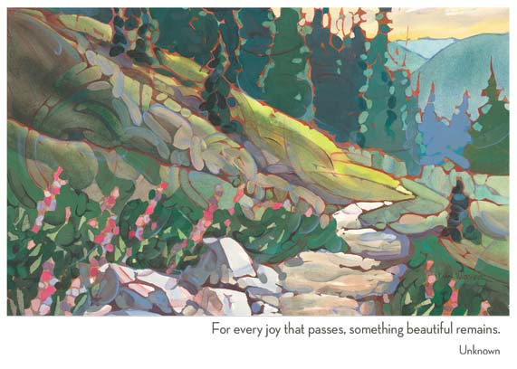 Mountain Trail Sympathy Card