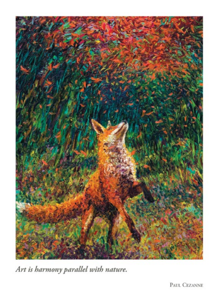 Fox Fire Birthday Card
