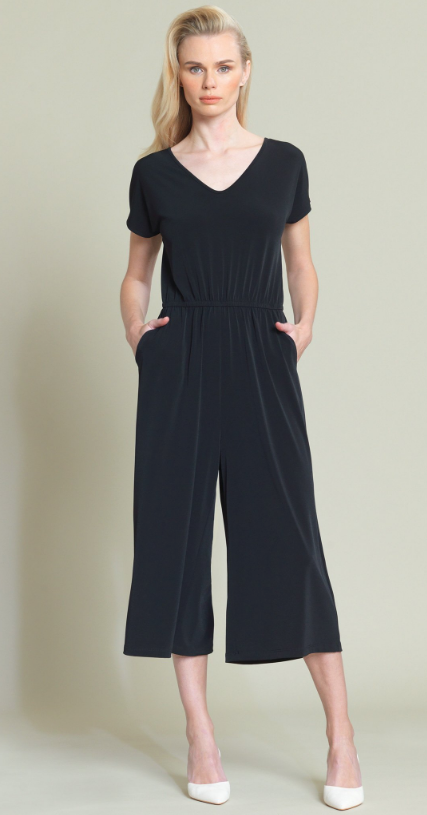 Crop Flare Jumpsuit