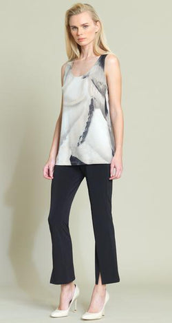 Taupe Watercolor Floral Mid Tank