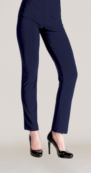 Navy Narrow Travel Pant