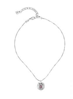 Silver & Crystal Simple Necklace