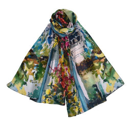Palazzo Floral Courtyard Scarf