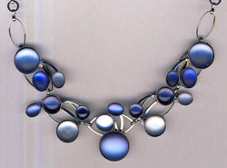 Blue Hues Glass Necklace