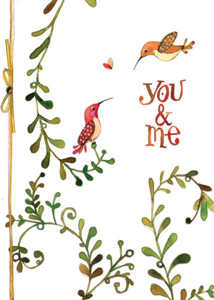 Hummingbird  Love Card
