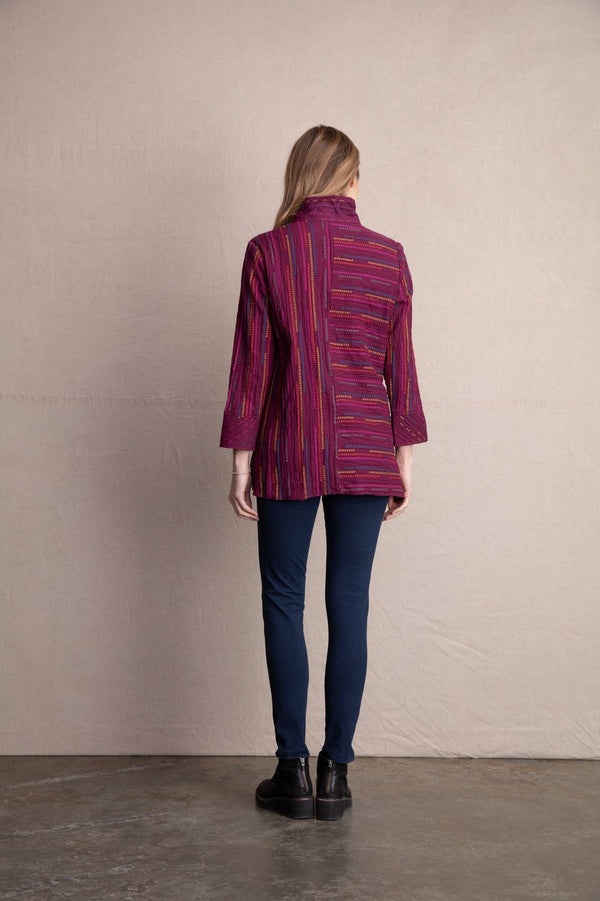 Wine Peruvian Tunic Jacket