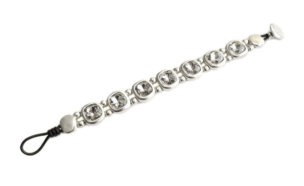 Pewter and White Crystal Bracelet