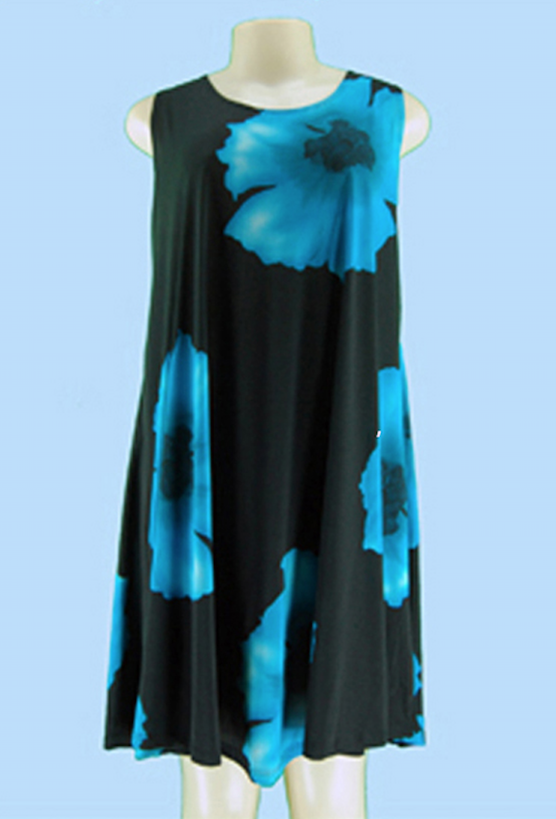 Turquoise Poppy Dress