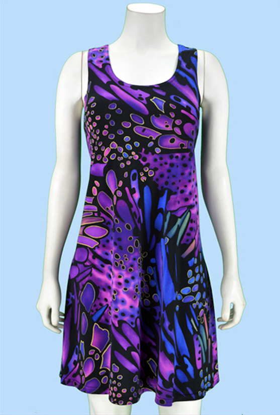 Purple Splash Dress
