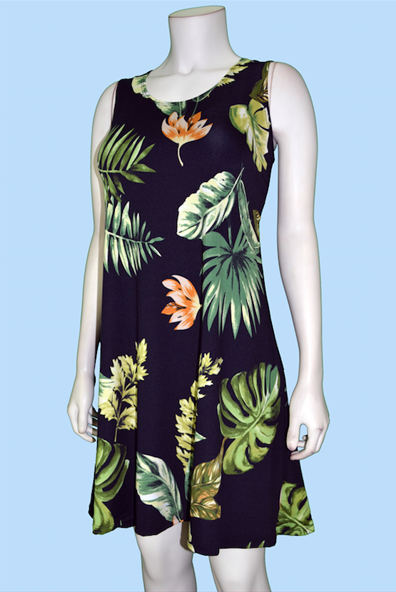 Black Palm Dress
