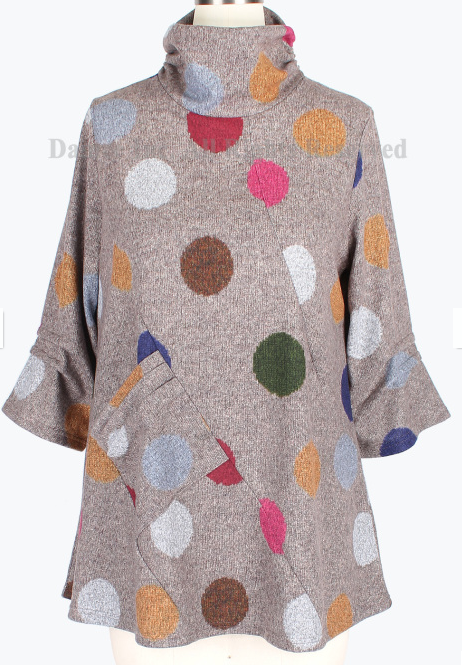Polka Dot Turtleneck Tunic