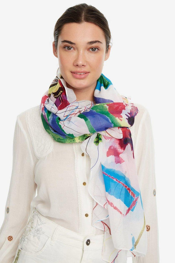 Floral And Wild Life Scarf