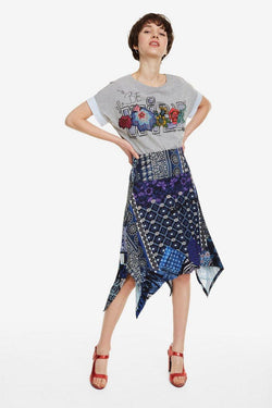 Flared Patchwork Skirt
