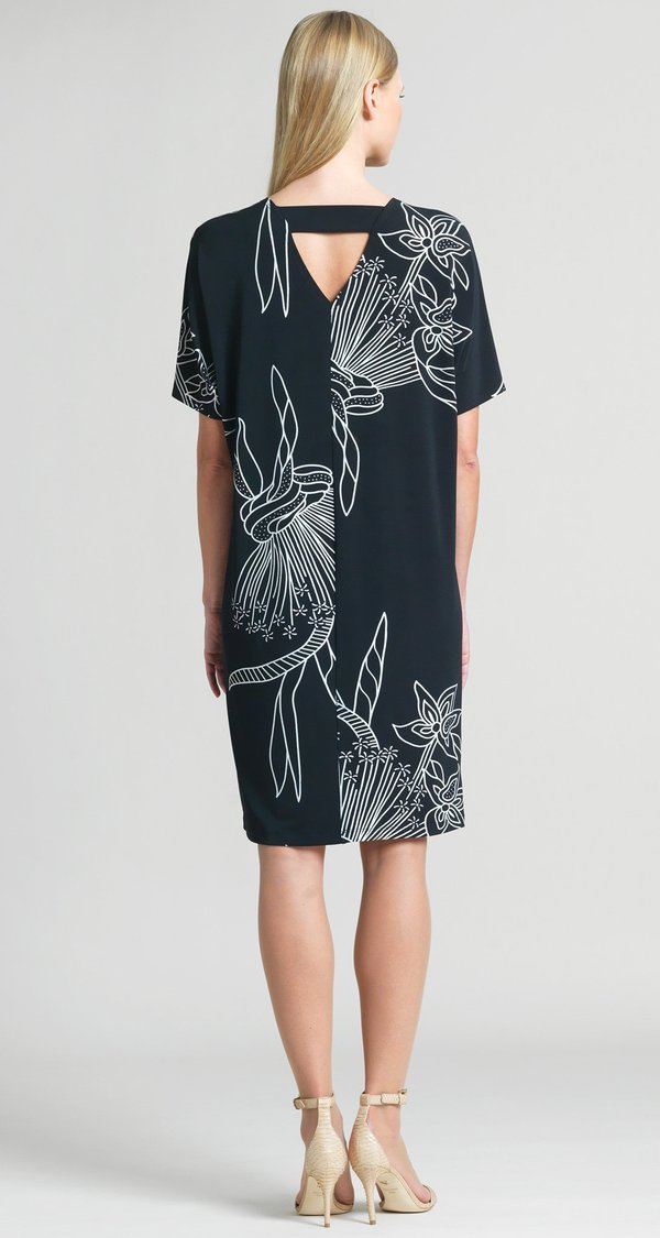 Bouquet Print Easy Dress