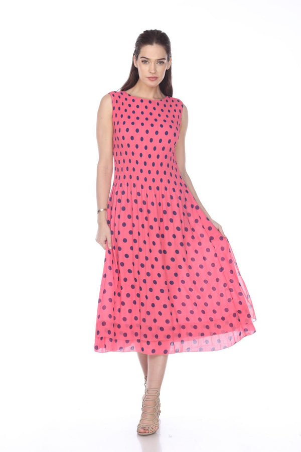 Peony Dot Maxi Dress