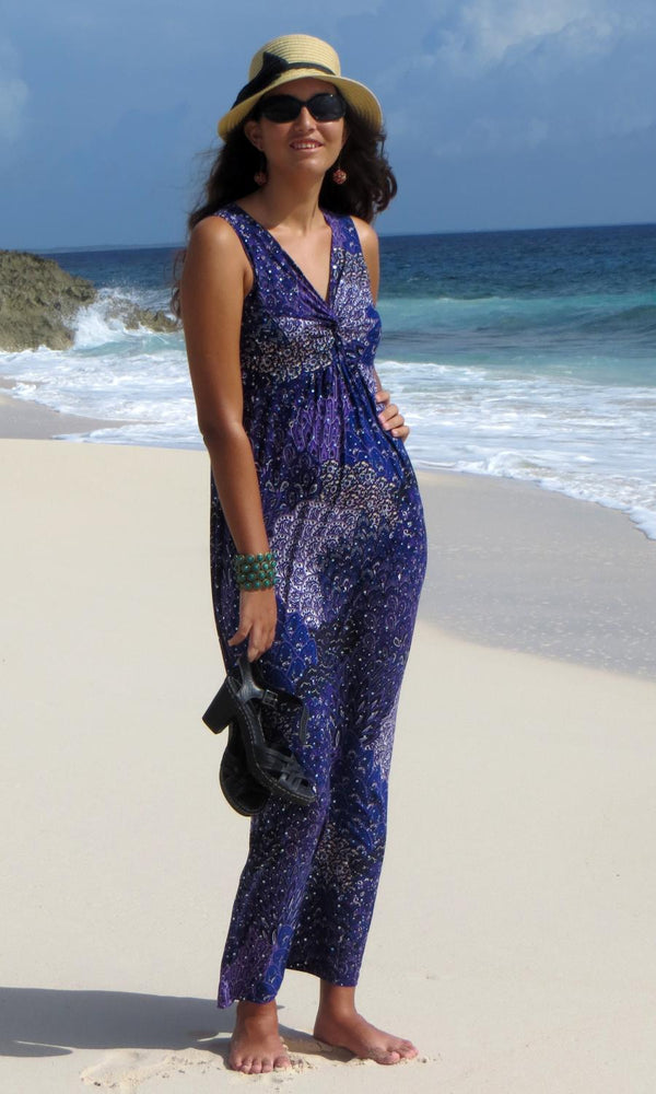 Purple Twist Maxi Dress