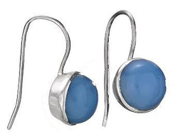 Simple Chalcedony Earring
