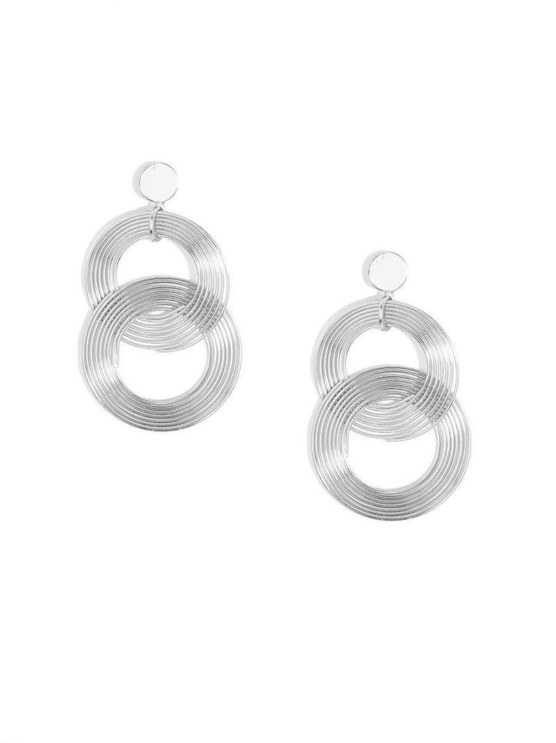 Silver Coil Earring