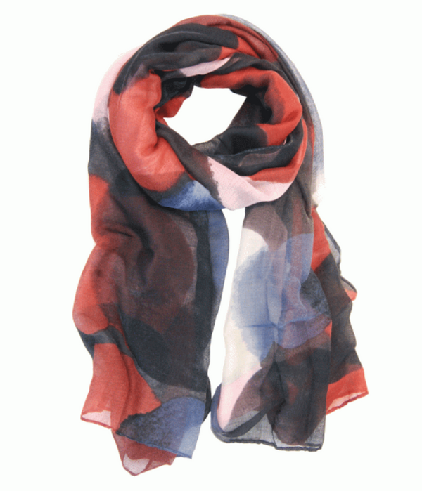 Multi Tone Orb Scarf Red