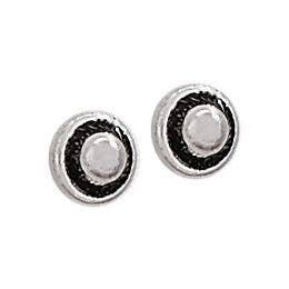 Encircled Sterling Silver Studs