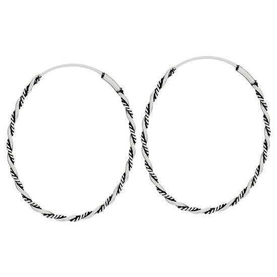 Albuquerque Sterling Hoop Earrings