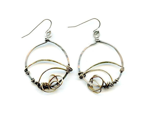 Sterling Knots Earrings