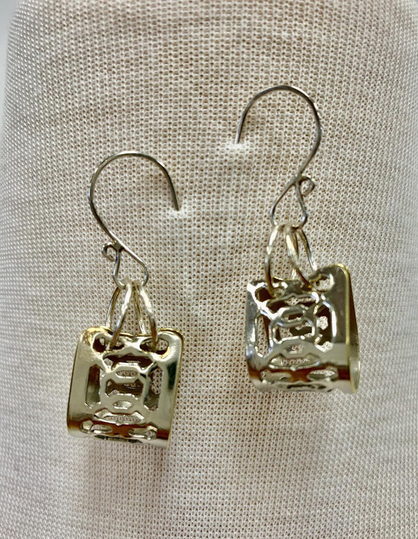 Silver Origami Earring