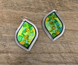 Lime Eclipse Earring