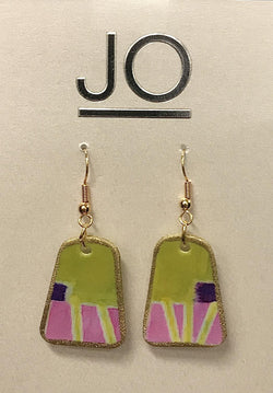 Green Paddle Earring