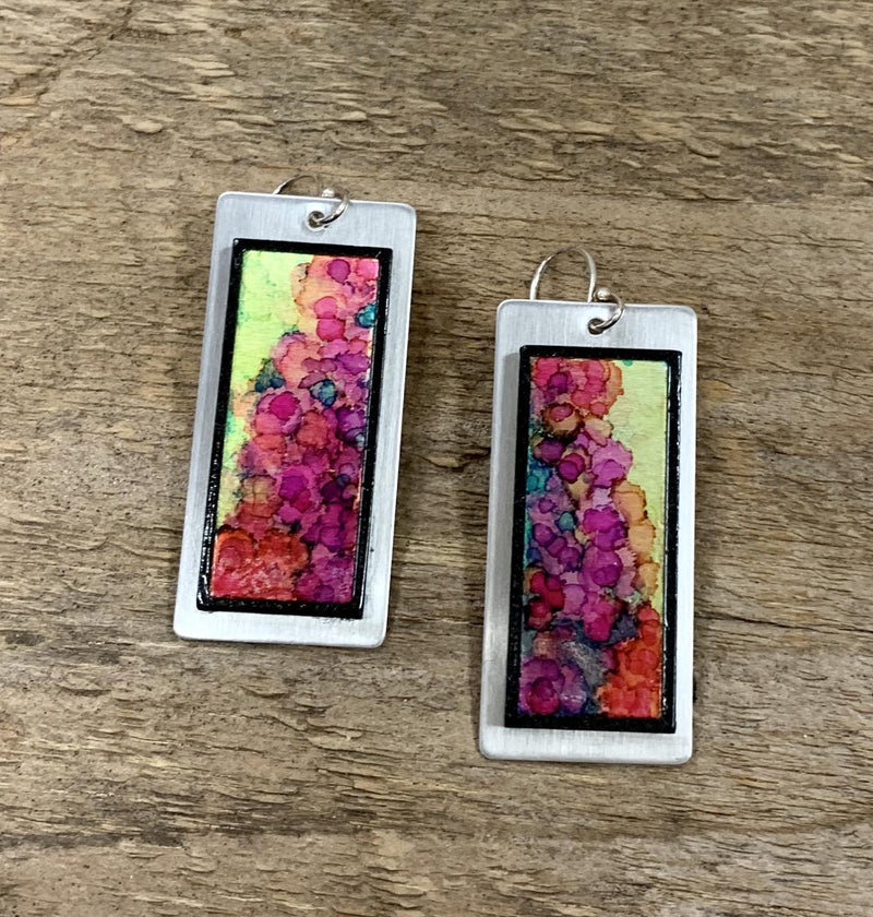 Vibrant Rectangle Earring