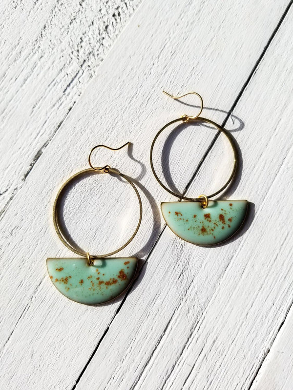 Mint Gold Earring