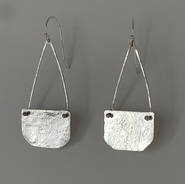 Sterling Purse Earrings