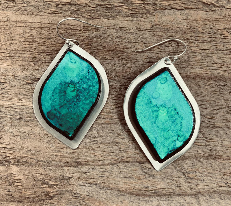 Teal Eclipse Earring