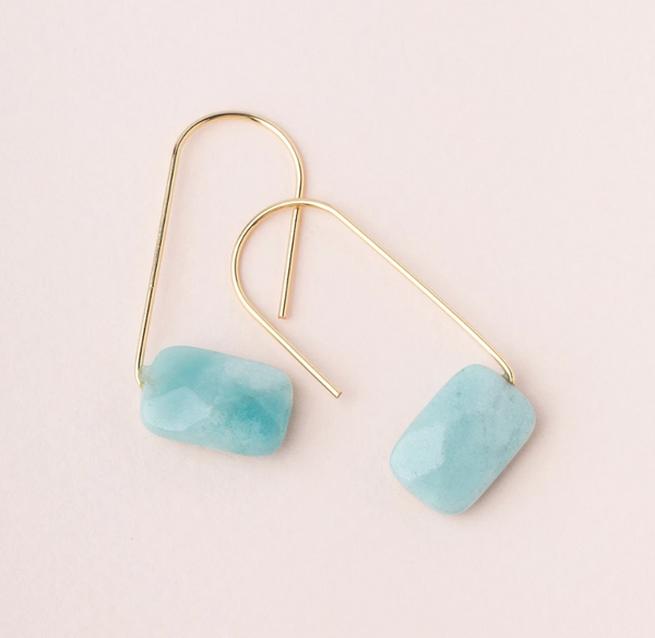 Amazonite Float Earring
