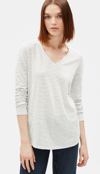 Organic Cotton Stripe Top
