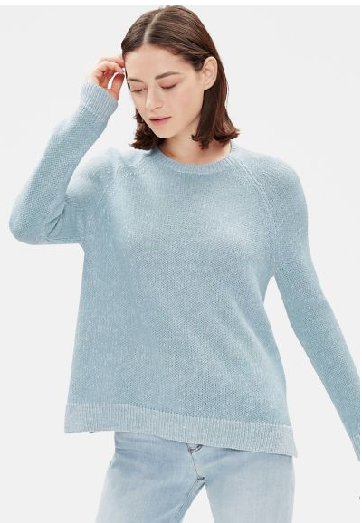 Soft Blue Linen Cotton Sweater
