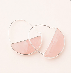 Rose Quarz Prism Earring