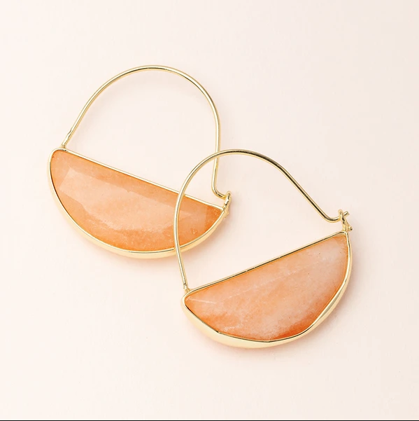 Sunstone Prism Earring
