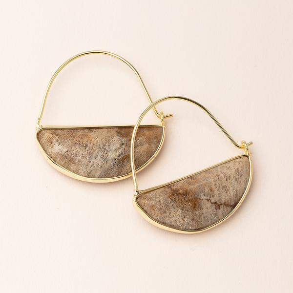 Fossil Prism Earring